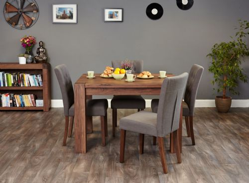 Shiro Walnut Medium Dining Table and Chair Sets